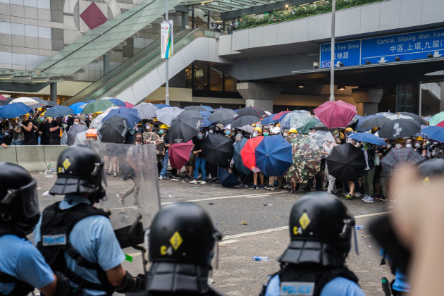 Anti extradition law protest in Hong Kong, China - 12 June 2019