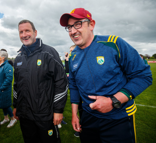 Brendan Cummins with Fintan O'Connor after the game