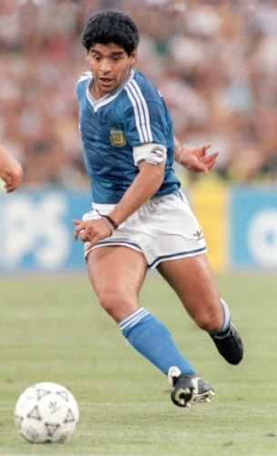 Soccer World Cup Final 1990: Germany vs. Argentina - Diego Maradona