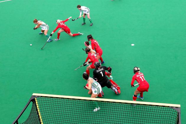 Zoe Wilson takes a shot on goal