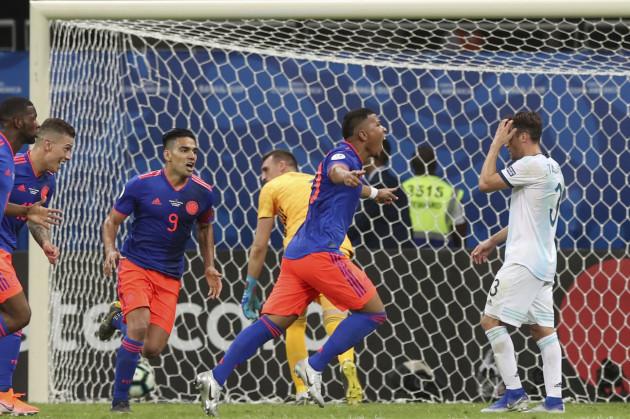 a564f7674 Colombia's Martinez and Zapata stun Messi's Argentina at Copa · The42