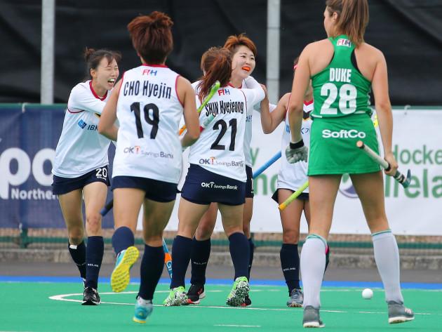 Korea celebrate a goal