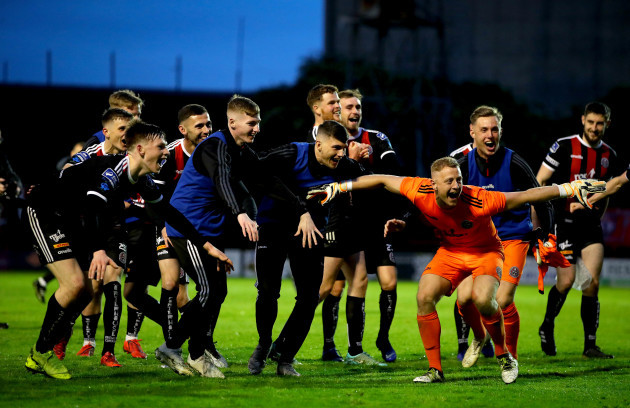 Bohs' celebrate after the game