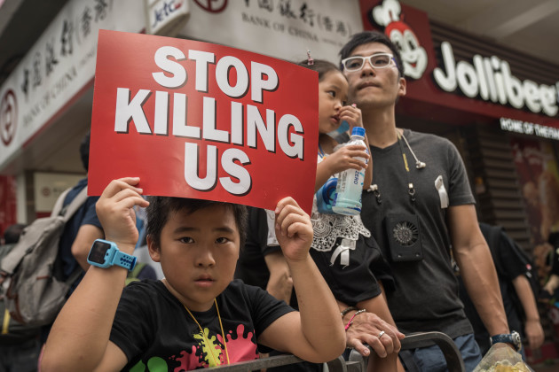 Anti extradition bill and anti government demonstration in Hong Kong - 16 June 2019