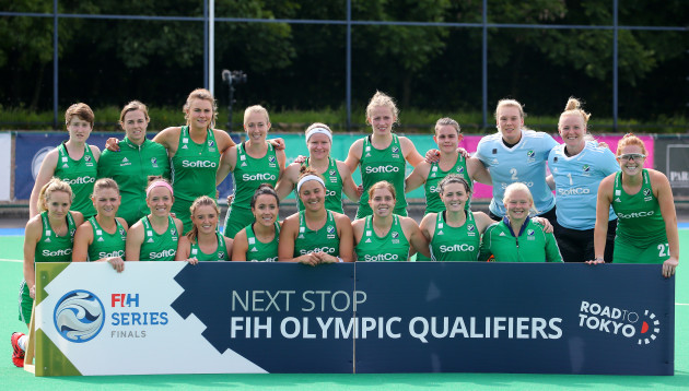 The Ireland team after qualifying for an Olympic qualifier