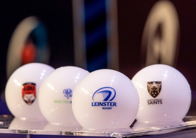 A view of Pool 1 of the Heineken Champions Cup draw