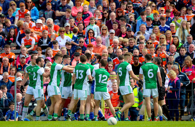 Monaghan and Fermanagh tussle