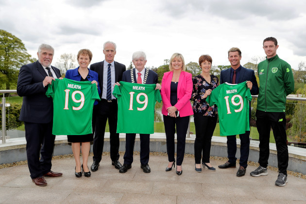 Noel Fitzroy, Jackie Maguire, Mick McCarthy, Tom Kelly, Sharon Tolan, Mary Murphy, Colin Bell and Barry Ferguson