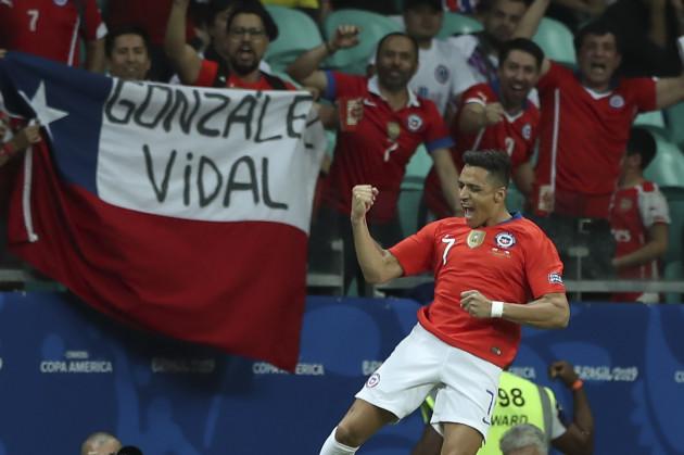Brazil Soccer Copa America Ecuador Chile