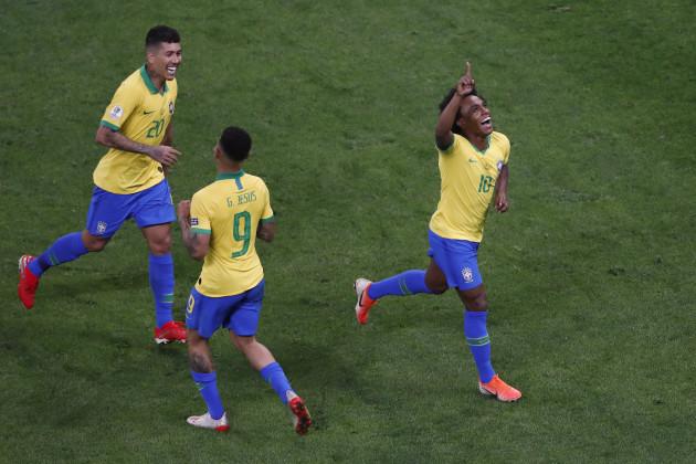 Brazil Soccer Copa America Brazil Peru