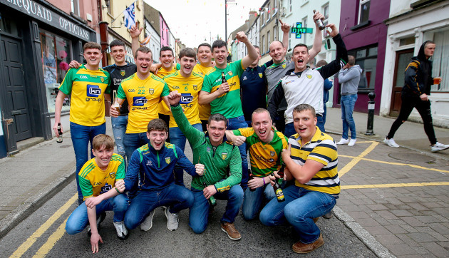 Donegal fans in Clones before the game