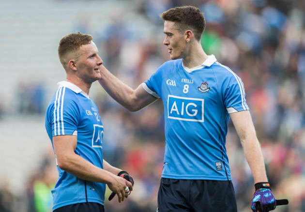 Ciaran Kilkenny and Brian Fenton celebrate