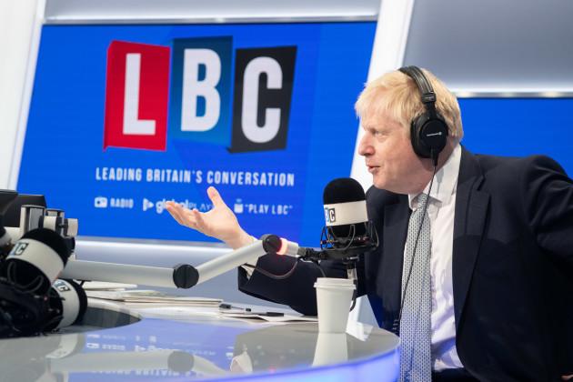 Boris Johnson at LBC - London