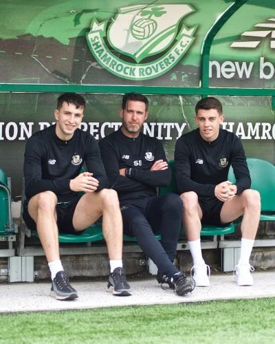 Neil Farrugia (L) Stephen Bradley (C) Gary O'Neill (R)  signing June 2019