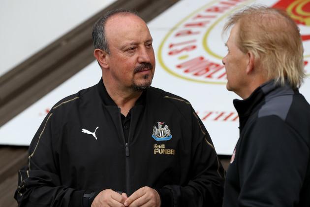 Rafa Benitez with Liam Buckley