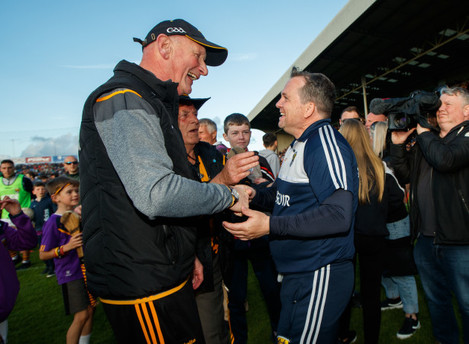 Brian Cody and Davy Fitzgerald after the game1