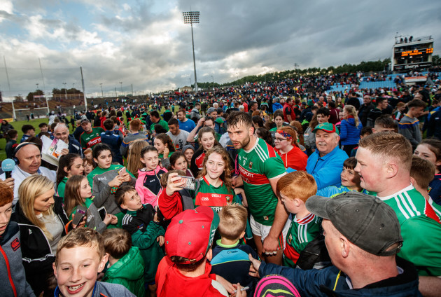 Aidan O'Shea with fans after the game