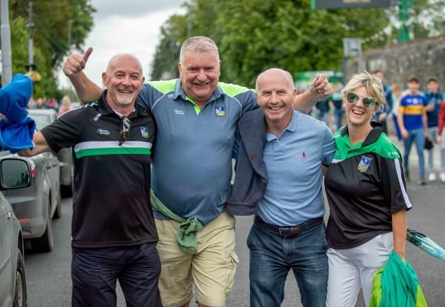 Glenn Stackpoole, John Hannon, Frankie Glynn and Karina Graham from Limerick City