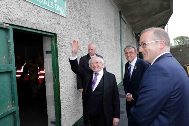 President Michael D. Higgins arrives for the game