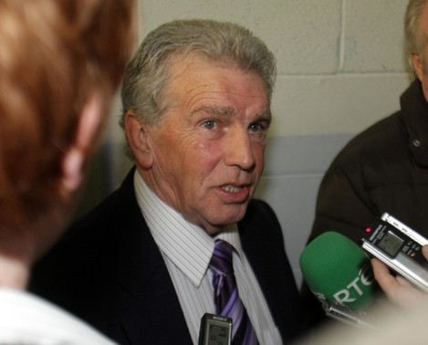 John Giles talks to the press