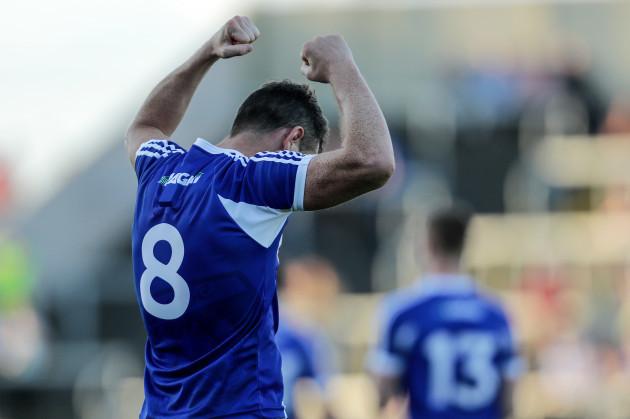 John O'Loughlin celebrates at the final whistle