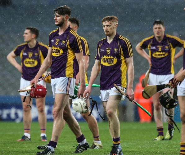 Wexford players dejected after the game