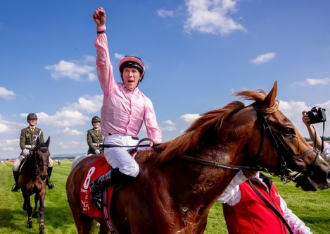 Padraig Beggy celebrates winning on Sovereign