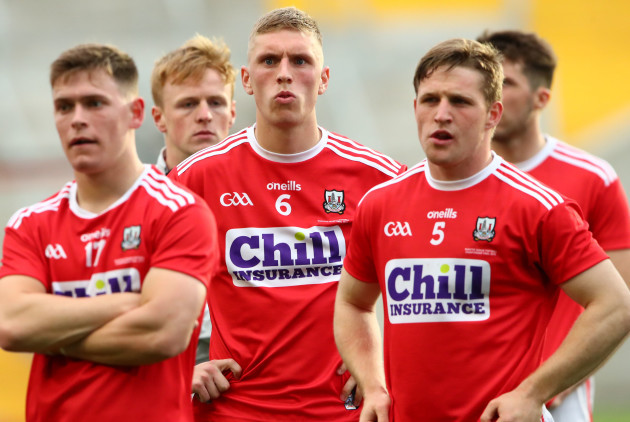 Kevin O'Donovan, Sean White and Liam O'Donovan dejected