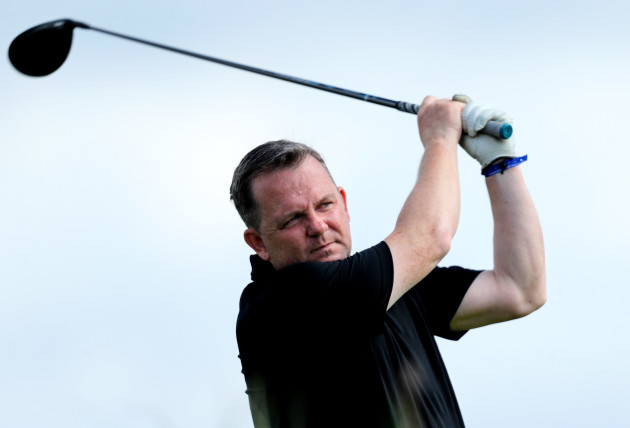 Davy Fitzgerald on the 18th tee box