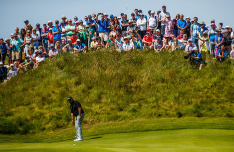 Shane Lowry on the 13th green