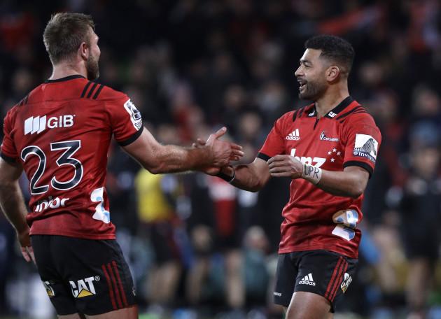 New Zealand Super Rugby Crusaders Hurricanes