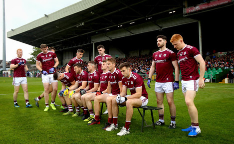 Galway take their position for the team photo