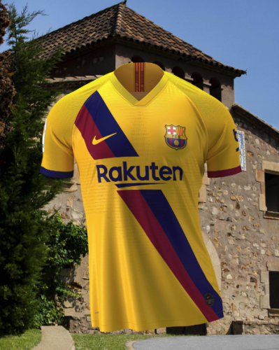 official photos f89c0 19cf8 Barcelona recreate iconic away kit to mark 40 years of La ...