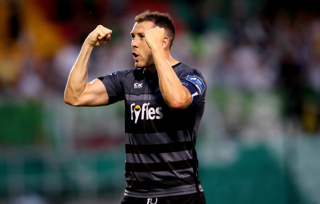 Brian Gartland celebrates after the game