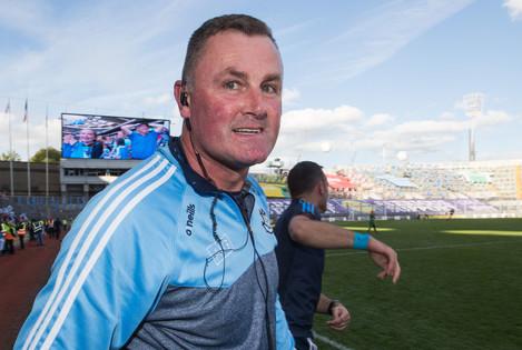 Mick Bohan celebrates at the final whistle