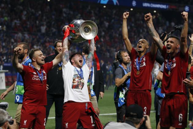 Final: Tottenham Hotspur vs Liverpool FC. Champions League 2018/2019 in Madrid, Spain - 01 June 2019