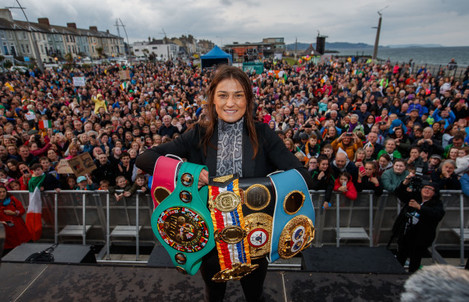 Katie Taylor on stage