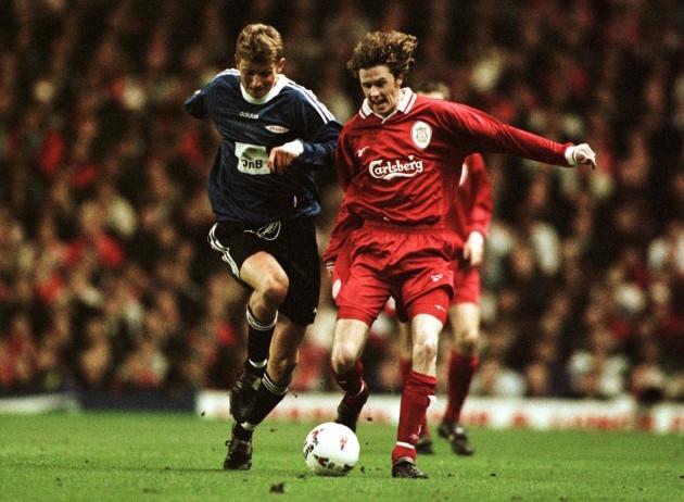Soccer - UEFA Cup Winners Cup Quarter Final ECWC - Liverpool v SK Brann