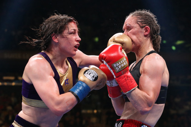 Katie Taylor and Delfine Persoon