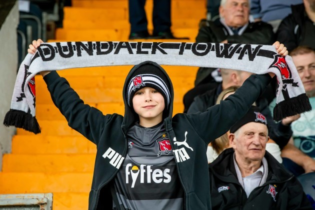 Dundalk fans ahead of the game