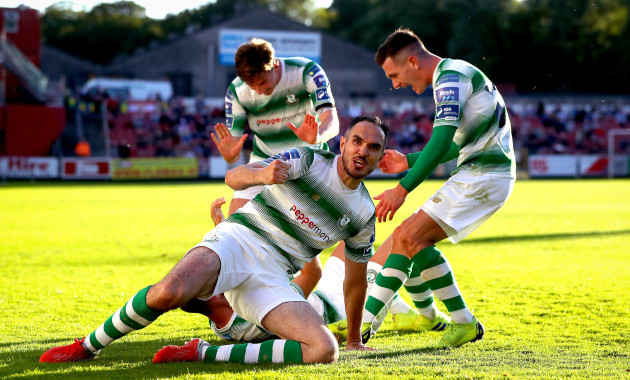 Joey O'Brien celebrates his side's first goal