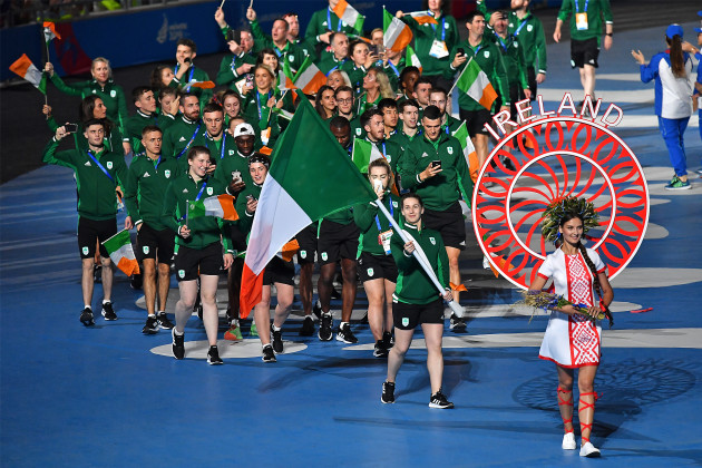 Chloe Magee leads Team Ireland during the opening ceremony