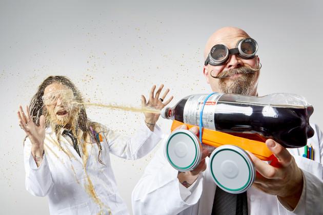 NO REPRO FEE  Orbax & Pepper do Science High Mentos Soda car