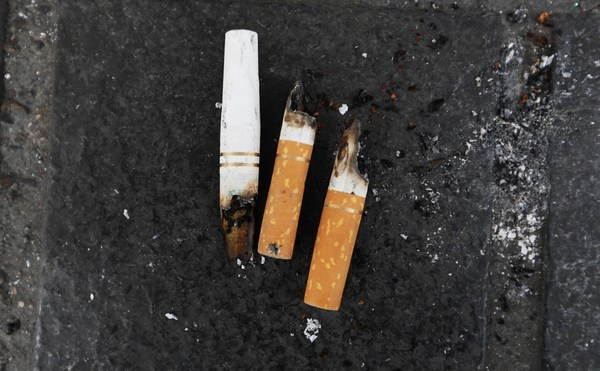 FILE PHOTO A report by the National Litter Pollution Monitoring System states that cigarette butts dropped by pedestrians now make up more than half of all our litter END