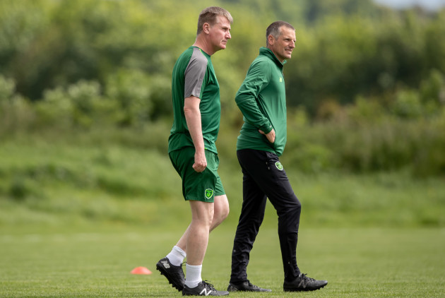 Stephen Kenny with Jim Crawford