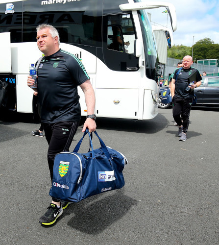 Stephen Rochford arrives at MacCumhaill Park followed by manager Declan Bonner