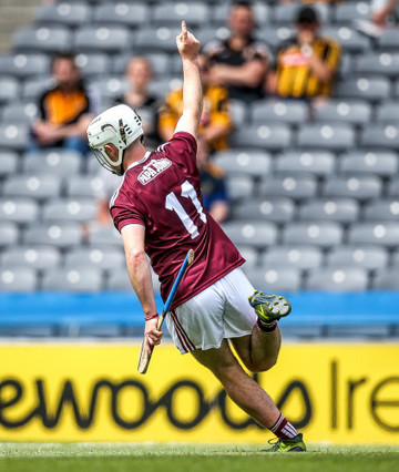 Colman O'Sullivan celebrates scoring a goal