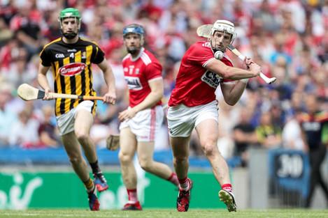 Pat Horgan scores a point