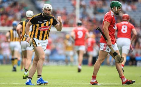 Conor Fogarty encourages his teammates