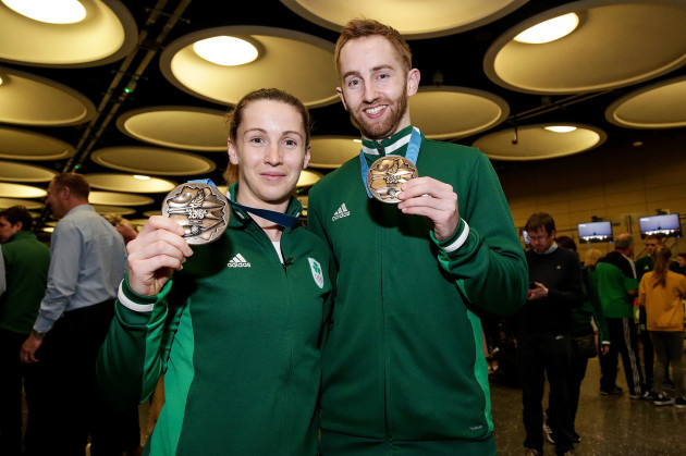 Chloe Magee and Sam Magee with their bronze medals